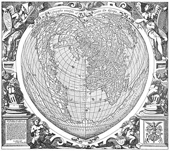 World Map 1566 by VintageLevel