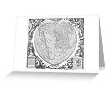 World Map 1566 Greeting Card