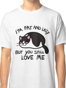 Lazy Cat, Piebald Black Classic T-Shirt