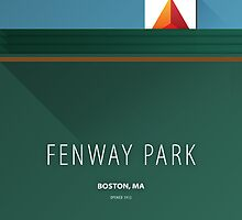 Minimalist Fenway Park - Boston (no border) by pootpoot