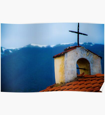 Old Church Greece Poster
