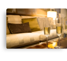 Champagne For Two Metal Print