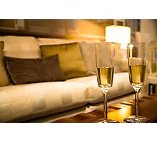 Champagne For Two Photographic Print