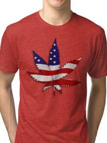Flag Pot Leaf Tri-blend T-Shirt