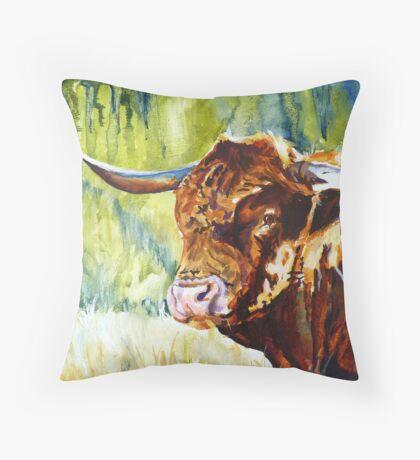 All Bull Throw Pillow