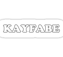 KAYFABE Sticker