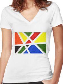 Mondrian Women's Fitted V-Neck T-Shirt