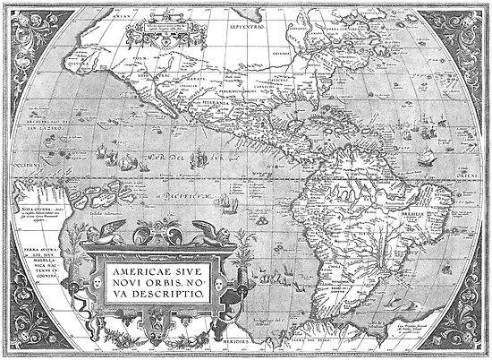 America Map 1587 by VintageLevel