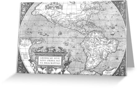 America Map 1587 by VintageLevel