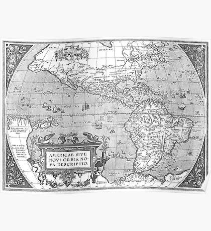 America Map 1587 Poster