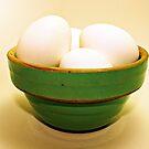 eggs in bowl by Lynne Prestebak