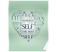 Yoga Heart Word Cloud Poster