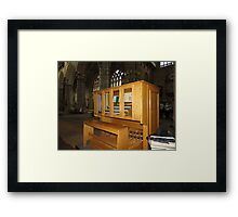The Grand Organ Console, Exeter Cathedral Framed Print