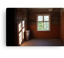 Abandoned asylum. Old Lier Mental Hospital, Norway. Built 1921, closed 1985.  Canvas Print