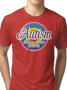 Autism Target Tri-blend T-Shirt