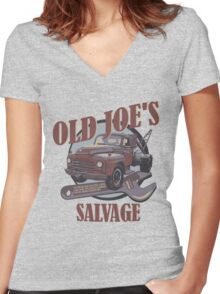 Breaking Bad Inspired - Old Joe's Salvage - Junk Yard - AMC Breaking Bad Women's Fitted V-Neck T-Shirt