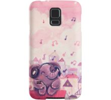 Music Lover - Rondy the Elephant listening to music on the roof Samsung Galaxy Case/Skin
