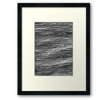 Storm sea b/w Framed Print