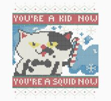Knitted Ugly Sweater Splatoon Judd the Cat from Nintendo Kids Tee
