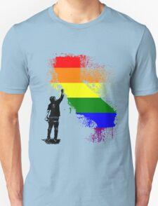 California Wall tagger Rainbow black T-Shirt