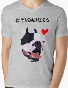 #FRENCHIES Mens V-Neck T-Shirt