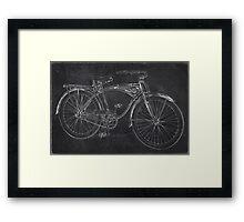 Vintage 1939 Schwinn Bicycle Chalkboard Framed Print
