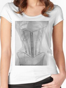 19th Century X-ray of a corset Women's Fitted Scoop T-Shirt
