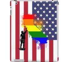 California Wall tagger Rainbow black iPad Case/Skin