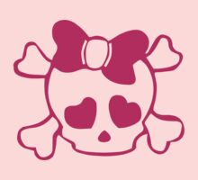 SKULL WITH BOW by mcdba