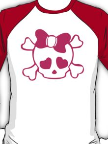 SKULL WITH BOW T-Shirt