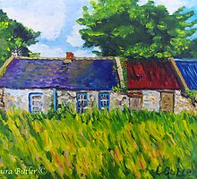 Deserted Roadside Cottages, near Downpatrick, County Down by Laura Butler