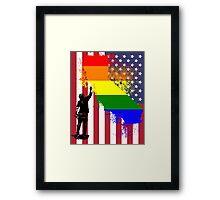 California Wall tagger Rainbow black Framed Print