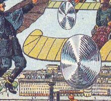Early 20th Century images of France in 2000 - Flying Police Sticker