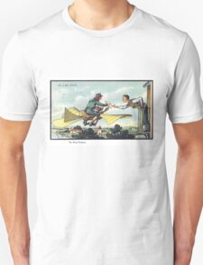 Early 20th Century images of France in 2000 - Flying Postman Unisex T-Shirt