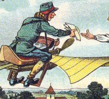 Early 20th Century images of France in 2000 - Flying Postman Sticker
