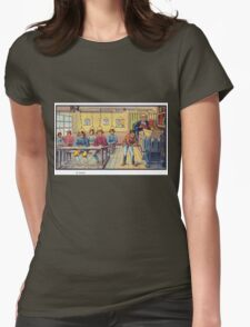 Early 20th Century images of France in 2000 - School Womens Fitted T-Shirt