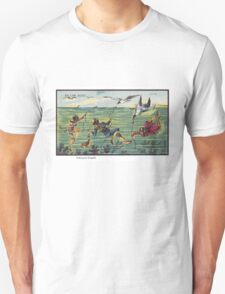 Early 20th Century images of France in 2000 - Seagull Fishing Unisex T-Shirt