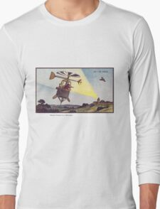 Early 20th Century images of France in 2000 - Sentinel Helicopter Long Sleeve T-Shirt