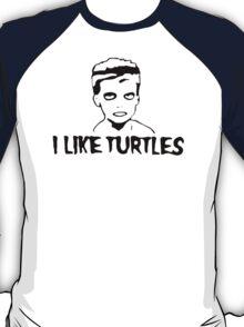 I LIKE TURTLES funny zombie kid humor geeky nerdy T-Shirt
