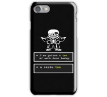 Undertale - Sans Skeleton - Undertale T shirt iPhone Case/Skin