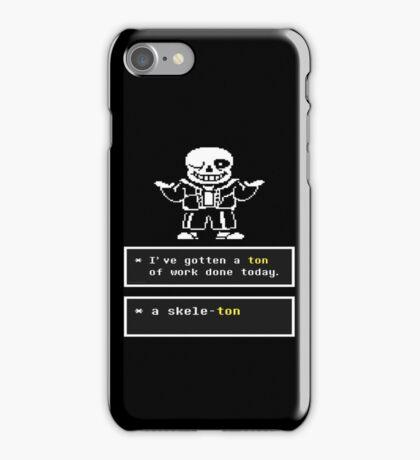 Undertale - Sans Skeleton - Undertale T shirt iPhone Case/Skin