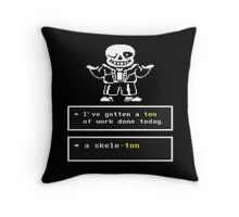 Undertale - Sans Skeleton - Undertale T shirt Throw Pillow