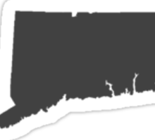 Connecticut Over Heart Dark Sticker