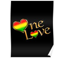 One Love (Gold) Poster