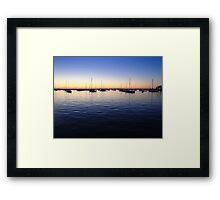 Sunset in Rhode Island Framed Print