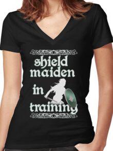 Shield Maiden in Training - Vikings Women's Fitted V-Neck T-Shirt