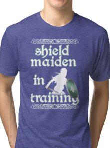 Shield Maiden in Training - Vikings Tri-blend T-Shirt