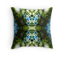 Aquatic Lace 19 Throw Pillow