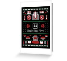 Black Box Films Christmas Sweater (Red & Green) Greeting Card