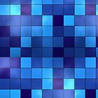 Blue Squares by TinaGraphics